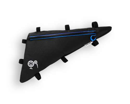 ROBO-KIWI Bikepacking Frame Bags - Triangulator XP - single, black/blue trim