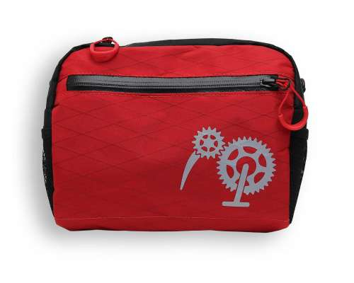 ROBO-KIWI Bikepacking Handlebar Bags - Cafe Bag XP - red