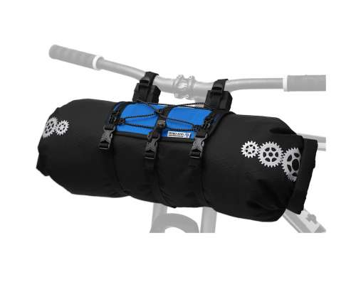 ROBO-KIWI Bikepacking Handlebar Bags - Front Harness + Dry Bag XP - bahama blue