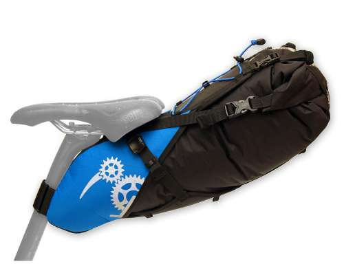 ROBO-KIWI Bikepacking Saddle Bags - Rear Harness + Dry Bag XP - bahama blue